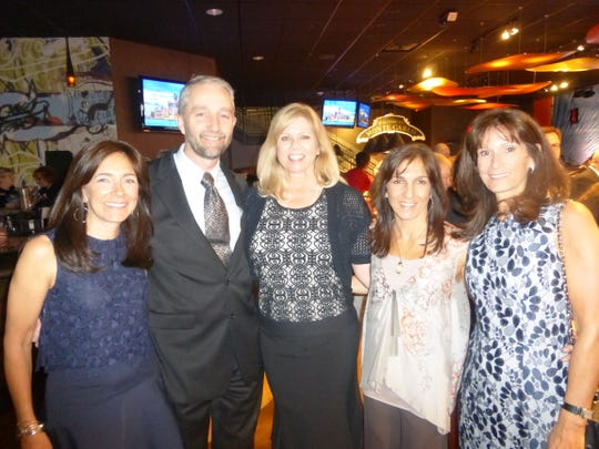 Variety Board Past-President Kelly Shuert of Bloomfield Hills; Event Sponsors Jeff and Laurie Jurczak of Shelby Township and Lori Rosa of Birmingham; and Variety Board member Ruthie Seltzer of Birmingham.