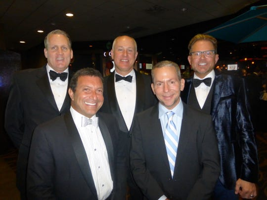Variety Board Secretary Michael Coyne of Bloomfield Township, West Bloomfield residents Jay Levin and Greg Rowley, Variety President Jeffrey King of Birmingham and Philip Mara of Bloomfield Township.