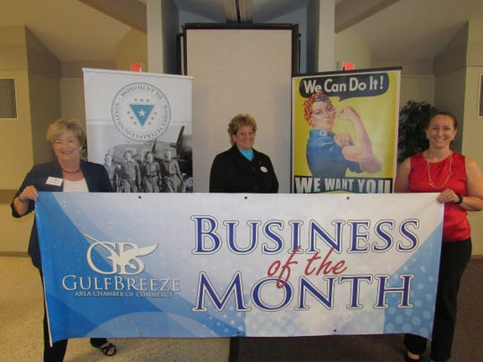 Center: Michelle Caldwell, CEO and founder of the Monument to Women Veterans.