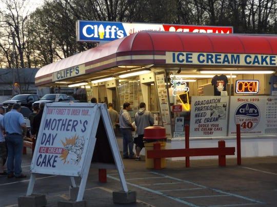 Cliff's Homemade Ice Cream in Ledgewood.