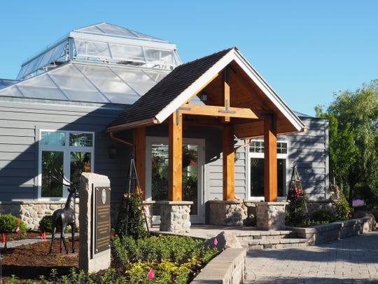 Among the new additions to the Christopher Farm and Gardens property just north of Sheboygan is this display greenhouse.