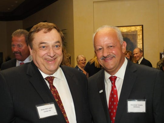 Dean Fred Jandt with CSUSB President Tomas Morales.