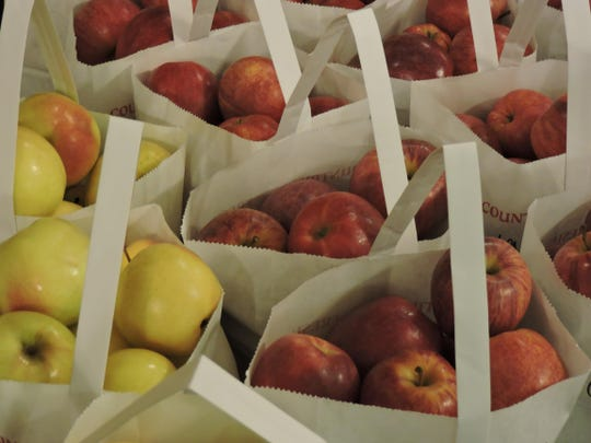 Many varieties of apples are available for purchase at Parmenter's in Northville.