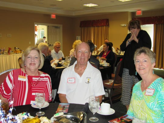 The Estero Chamber of Commerce recently held their November Lunch & Learn on Veteran's Day. Pictured are: Debi Montenieri and Perry and Karen Finkle