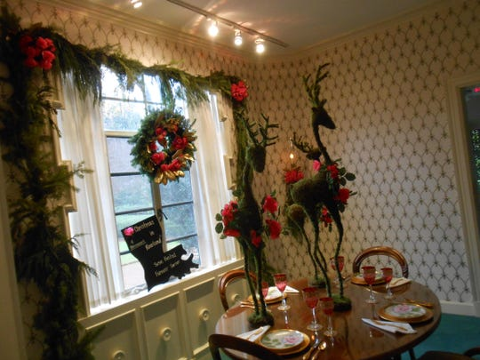 The Monroe Garden Study League decorates the Biedenharn Museum and Gardens — a 1913 home depicting the life and interests of the first Coca Cola bottler Joseph Biedenharn and his contralto opera singer daughter, Emy-Lou — annually for the holiday season.