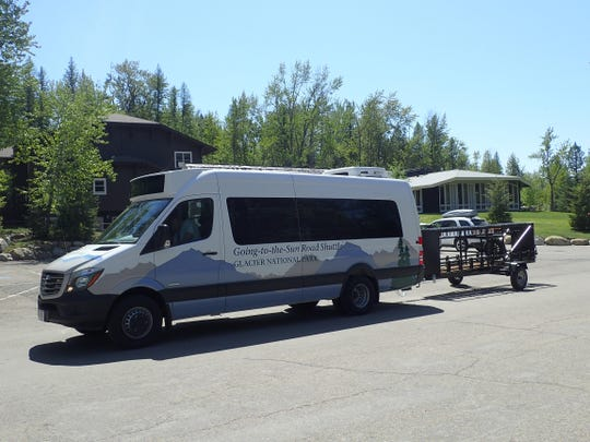 The hiker-biker shuttle can haul 16 bikes to and from Avalanche Lake parking lot.
