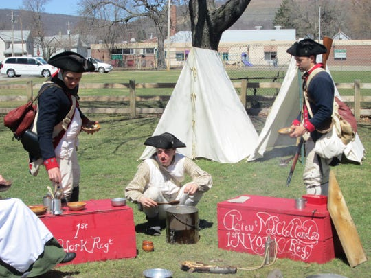 Members of the 1st New York Regiment McCracken's Company will camp out at the Heritage Village of the Southern Finger Lakes in Corning as part of its Blast into History weekend.