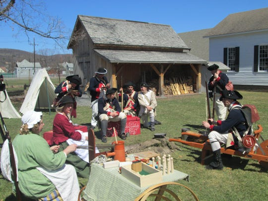 Blast into History weekend at the Heritage Village of the Southern Finger Lakes in Corning includes demonstrations, tours and an encampment by the 1st New York Regiment McCracken's Company.