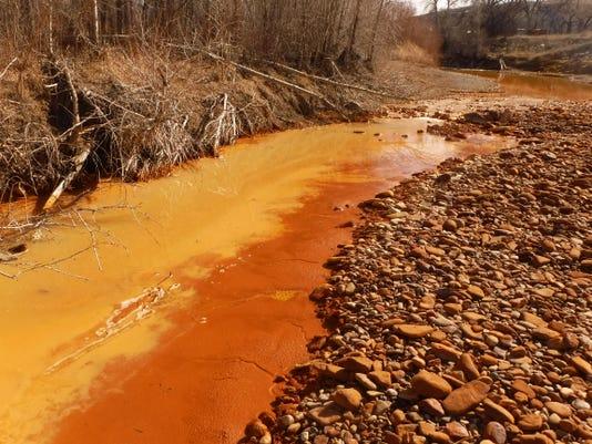 Belt creek Red water and sludge (2)