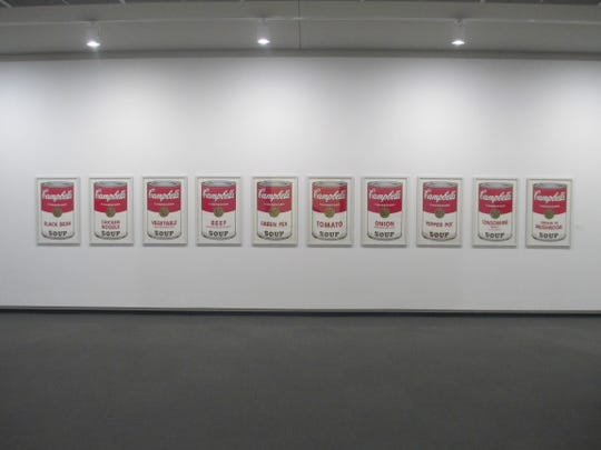 """Springfield Art Museum's """"Campbell's Soup 1"""" screenprints by Andy Warhol were displayed in a Pop Art show before seven of 10 prints were stolen April 7, 2016."""