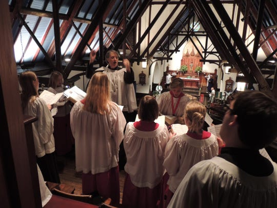 St. Johns Choir will sing Advent hymns during the service of Lessons and Carols at 7 p.m. Sunday.