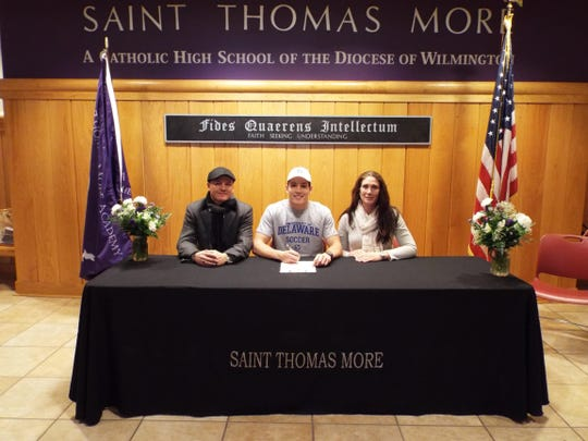 St. Thomas More's Kexxer Camarco signed to play soccer at the University of Delaware.