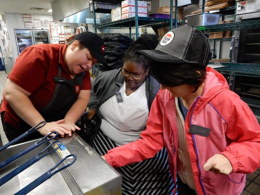 In the store - Christina Tricker, NORWOOD, Temeka Boyd of Mt. Airy, Becca St
