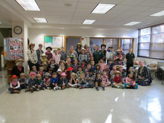Trinity Lutheran School in Menasha held its annual Scholastic Book Fair recently and students participated in dress-up days. One was Wild West Day.