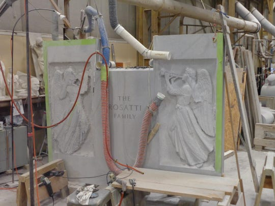 Finishing work for a family monument.