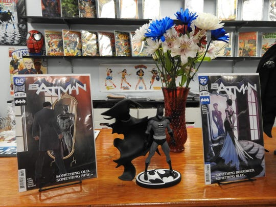 "Flowers and wedding-themed ""Batman"" covers are part"