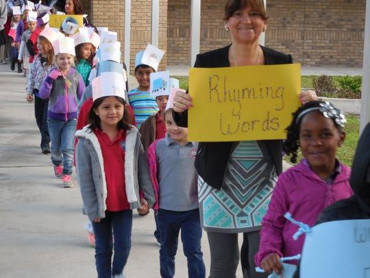 Riviera Elementary held a literacy parade.