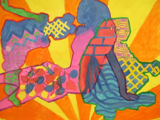 This work by Eric Cardoza, a South River Middle School student, is among the works by Middlesex County young artists scheduled to be on display for the month of January at the Highland Park Library.