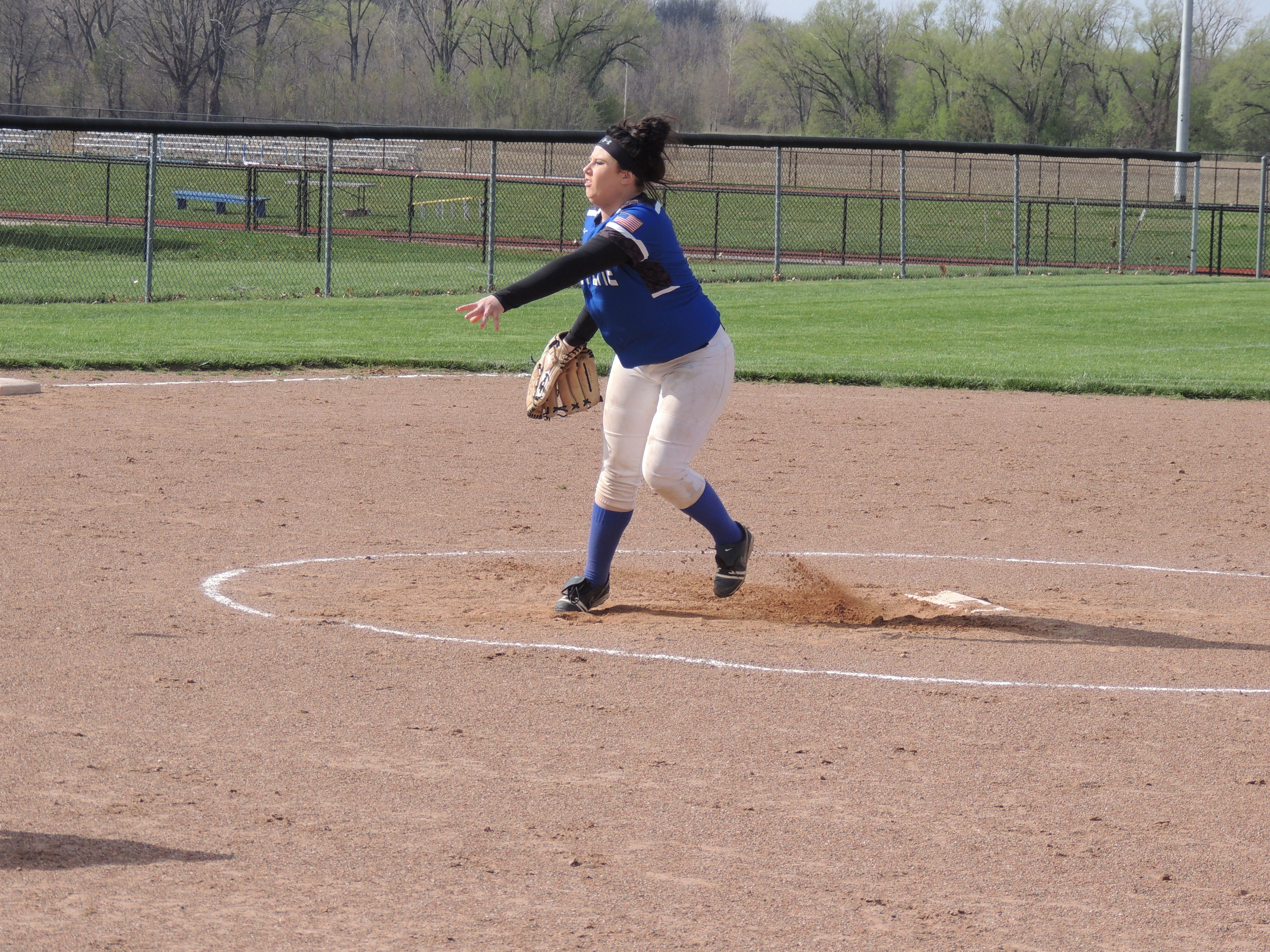 Crestline junior Caylee Jackson delivers a pitch in the second inning of the Lady Dogs' 14-7 win against Buckeye Central.