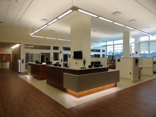 A look at the nurses' station inside the new ICU at Guthrie Robert Packer Hospital in Sayre.