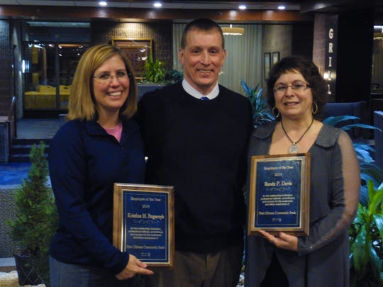 First Citizens recently honored its employees of the year. Pictured, from left, are honoree Kristina Bogaczyk, Randall E. Black, First Citizens CEO and president, and honoree Renee Davis.