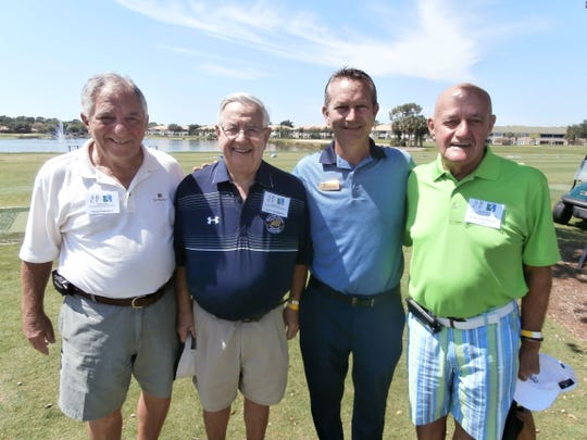 From left, Perry Camodeca, Spring Run Charity Classic event chairman; Luke Cunningham, director of silent auctions; Jeff Carter, Spring Run head golf pro; and Jack Chadwick, president of Spring Run Charitable Foundation, gather at last week's annual event.