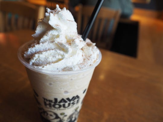 The pumpkin pie frappe at the downtown Iowa City location of the Java House.