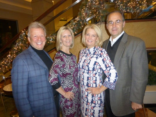 Dance contest winners — and best dressed — Gary and Marie Kadlec of Rochester Hills and Patti and Ran Jessup of Bloomfield Hills.