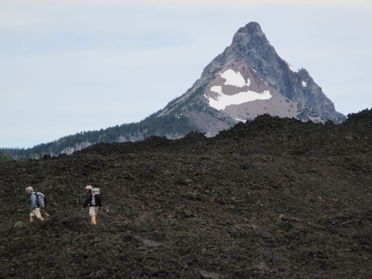 Mount Washington is difficult to miss, as it rises sharply above the Oregon Cascade Range.