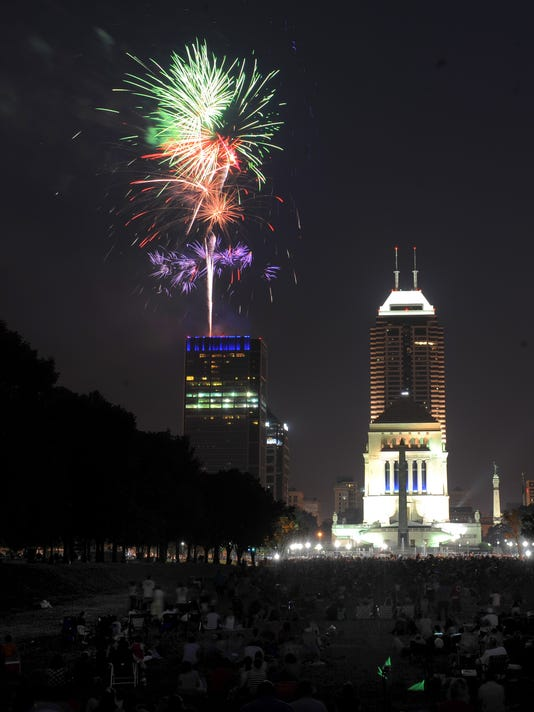 Indianapolis July 4th fireworks Indiana