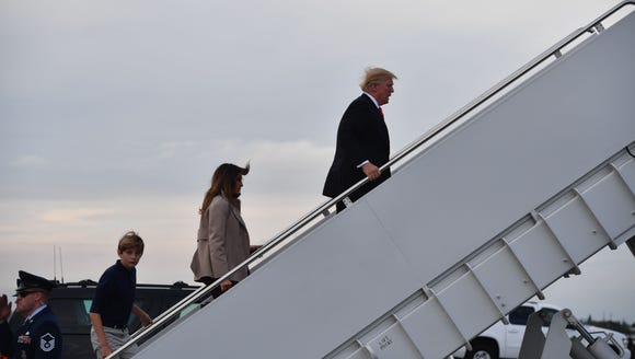 President Trump departs from West Palm Beach, Fla.,