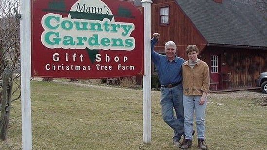 John and Kelly Mann of Mann's Country Gardens.