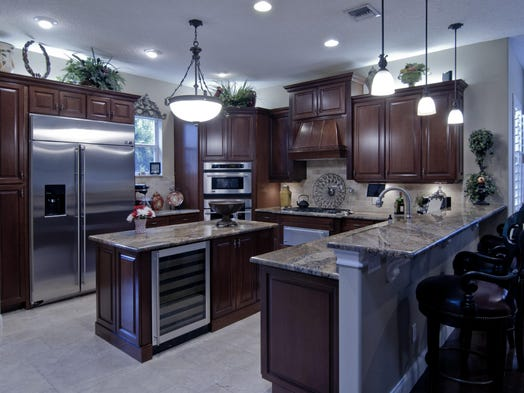 eclectic kitchen cabinets take a tour of titusville s most kitchens 3519