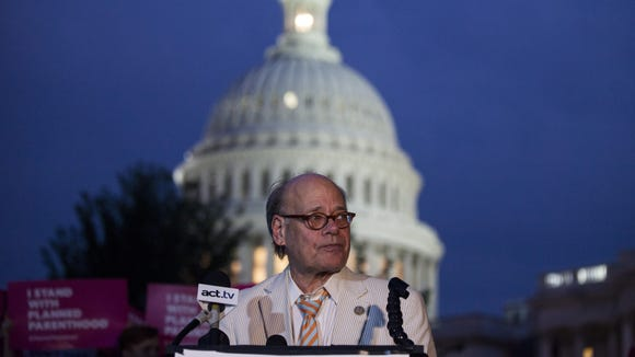 Rep. Steve Cohen, D-Tenn., speaks during a rally opposing