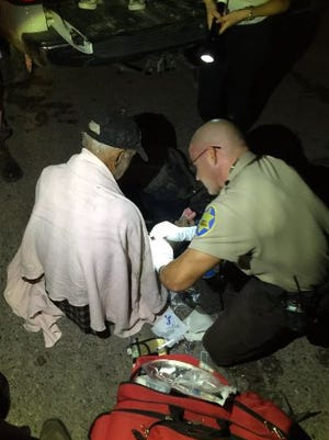 A 92-year-old missing from Queen Creek for two days was found wandering in the desert Thursday night by ATV riders, according to the Maricopa County Sheriff's Office. Deputies gave him first aid at the scene before taking him to a hospital.