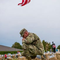 7,300 boots stand for fallen soldiers at Fort Campbell