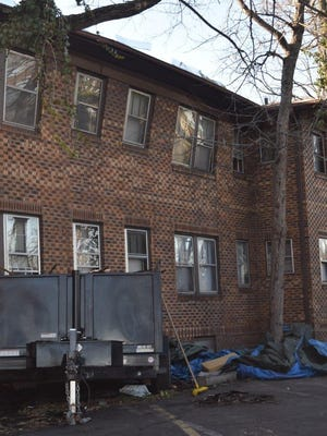No injuries were reported after a partial roof collapse that displaced 55 residents at Chatham Manor Apartments in Indianapolis, Friday, March 10, 2017.