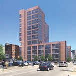 A rendering of the new garage, apartments and retail space planned at Eighth and Sycamore streets in downtown Cincinnati.