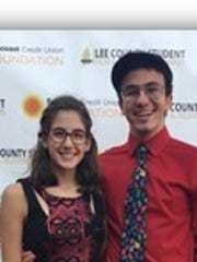 Paige Renyhart and Vince Marcucci, students from North