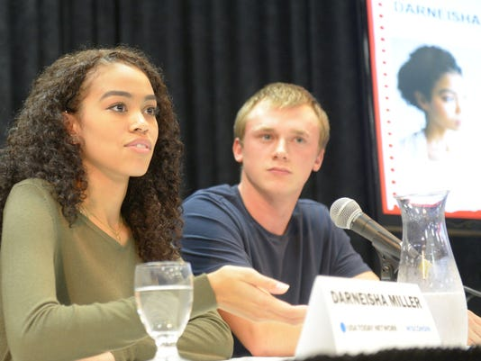 Darneisha Miller and Dylan Tritt, Degrees of Debt rally