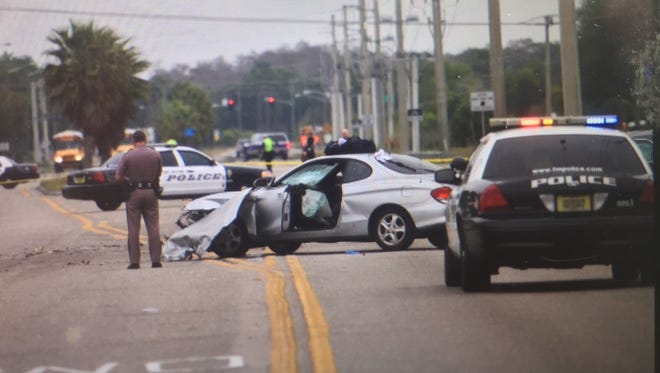 A Fort Myers police cruiser was involved in a crash on Winkler Avenue Thursday, Jan. 15, 2015