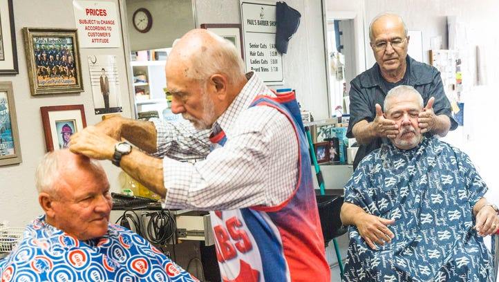 Taking their cuts: At Bonita barbershop, baseball talk and quick wit reign supreme