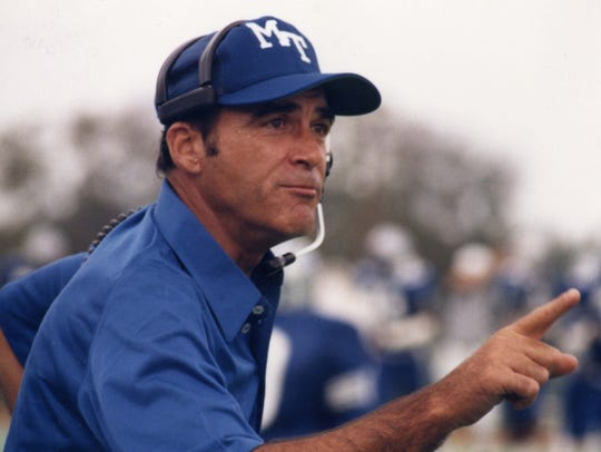 Former MTSU football coach Boots Donnelly during the