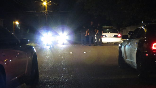 Jackson police were on Hatton Street on Monday night investigating a shots fired call.