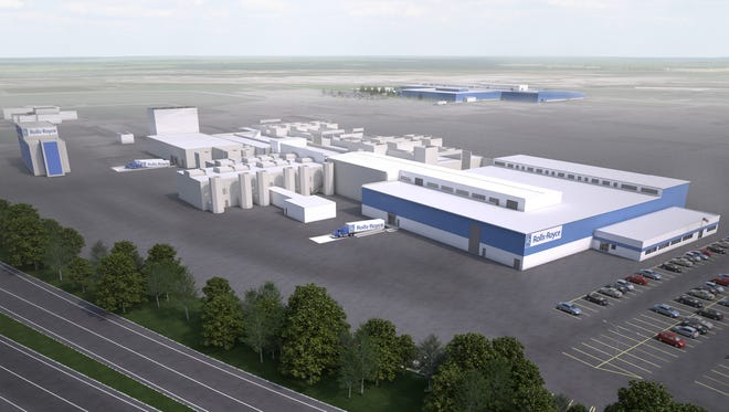 A mock picture of what the revamped Rolls-Royce facility will look like.