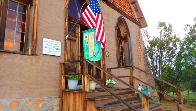 The historic Hearst Church welcomes visitors to the Grant County Art Guild's Pinos Altos Art Gallery and the large array of art found within.