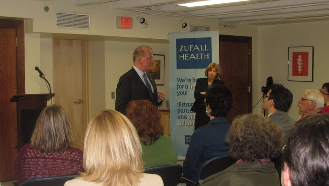 Rep. Leonard Lance visits Zufall Health Center in Dover to announce the nonprofit center's new $350,000 grant