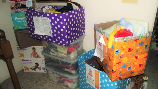 Penn State York student Jazmin Nixon collected baby items to give to the YWCA York.
