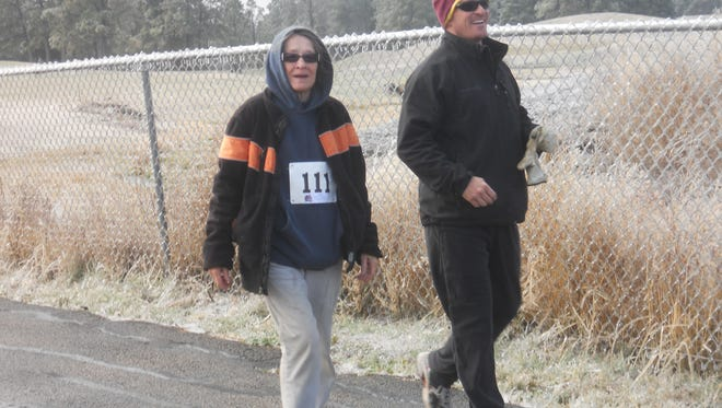 Folks were good natured despite the frigid temps during the fourth Walk the Links event to collect food for the Lincoln County Food Bank.