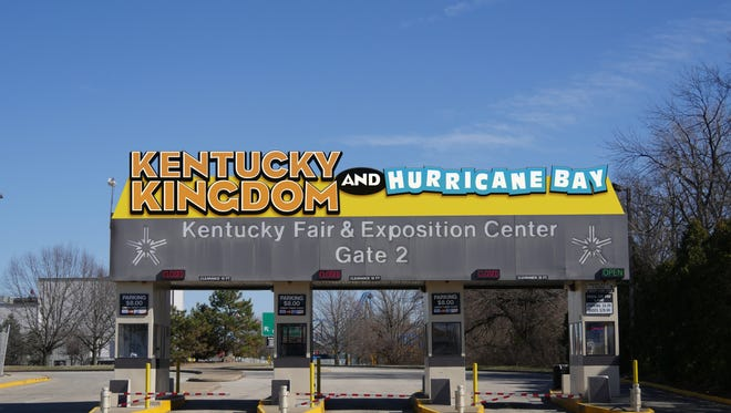 A rendering of Kentucky Kingdom's new signage.